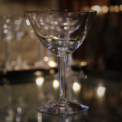Simple and Classic Crystal Martini Glass with Platinum Rim (LEO Design)