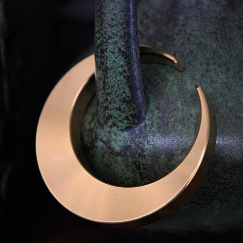 "Japanese Hand-Crafted Brass ""Crescent Moon"" Bottle Opener (LEO Design)"