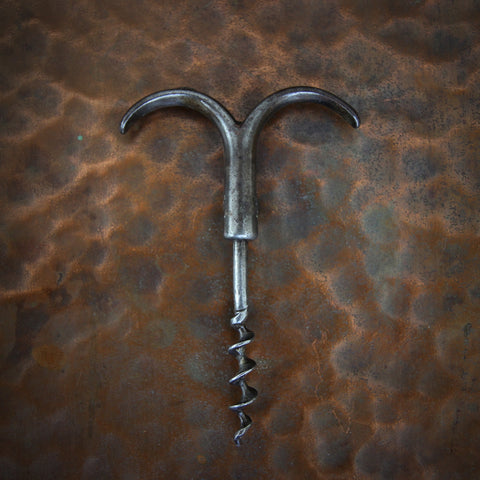 Edwardian English Steel Butler's Corkscrew (LEO Design)