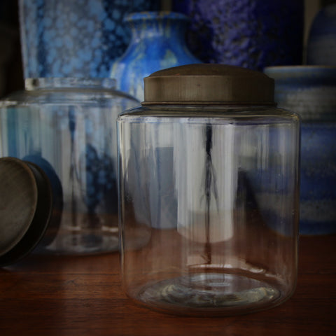 Turn-of-the-Century Country Store Glass Canister with Tin Lid (LEO Design)