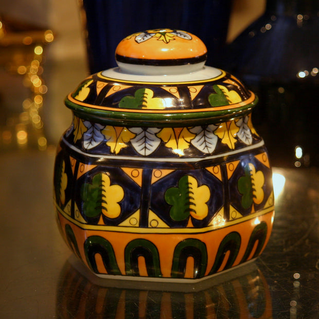 Japanese Hand-Painted Canister