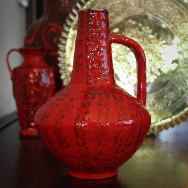 Space-Aged Red Pitcher