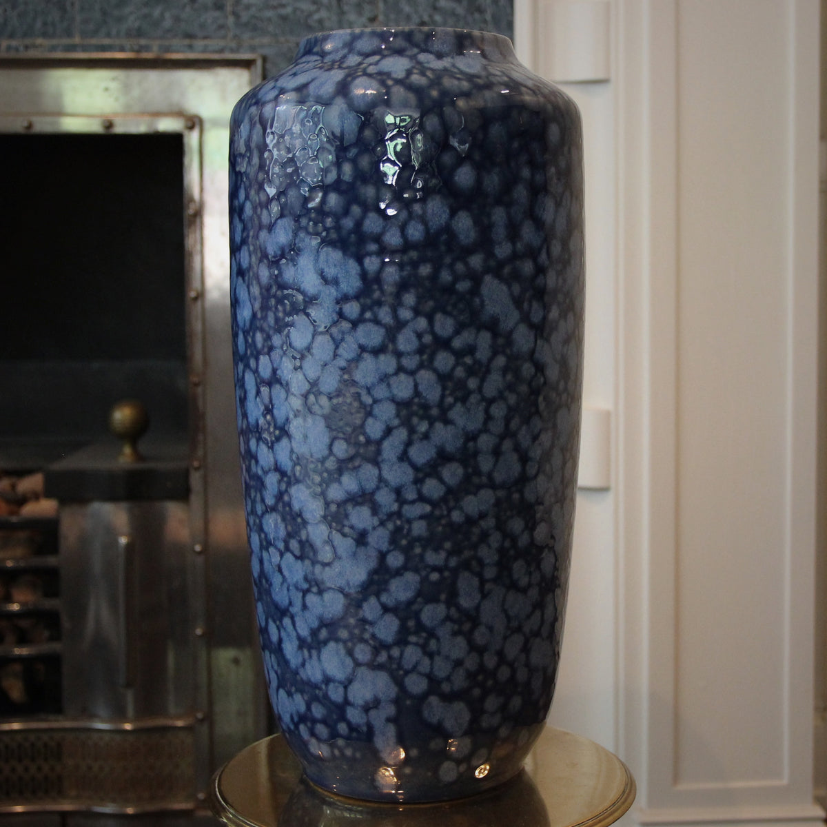 Dappled Blue Floor Vase