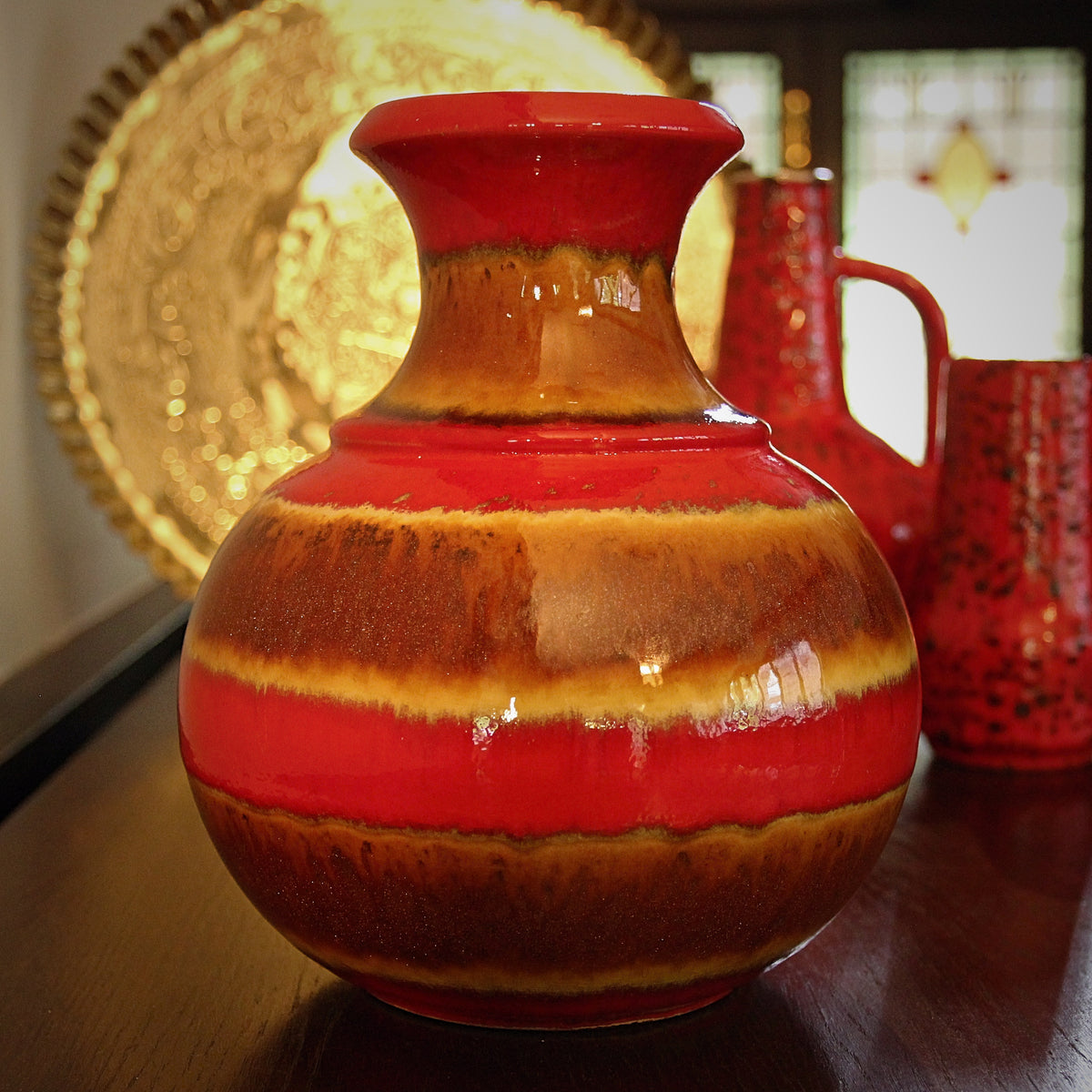 Red & Copper Dust Vase