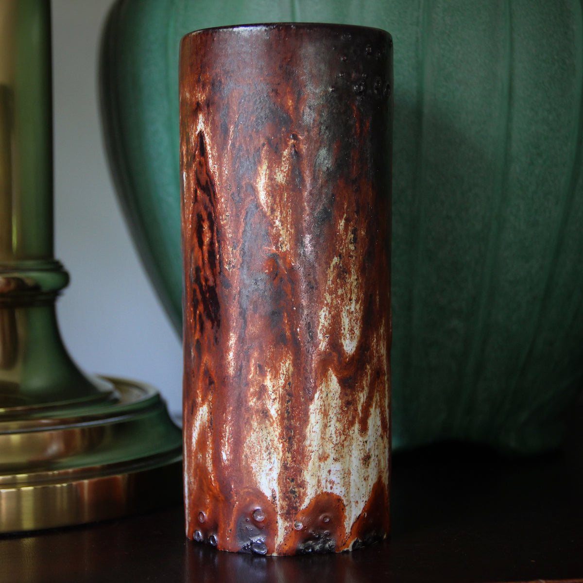 Rust-Glazed Vase