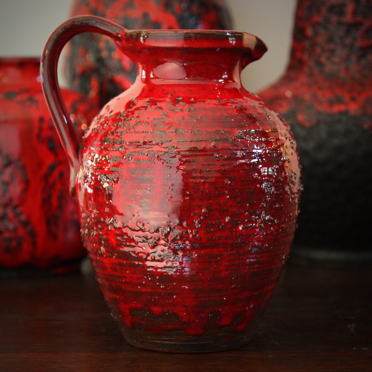 Red Textured Pitcher