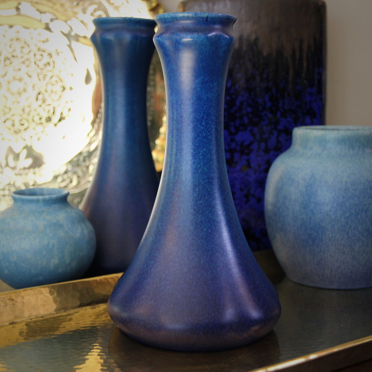 "English Cobalt ""Genie"" Vase"