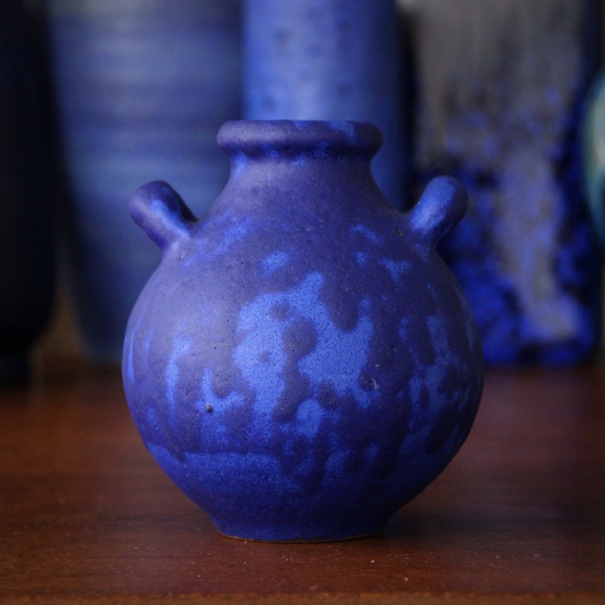 Ultramarine Two-Handled Vase