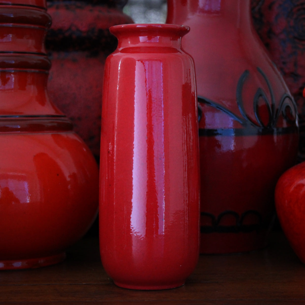 Tall Red Vase