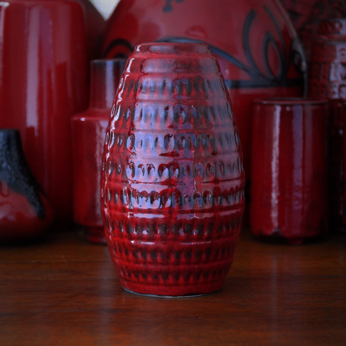 Textured Egg-Form Vase