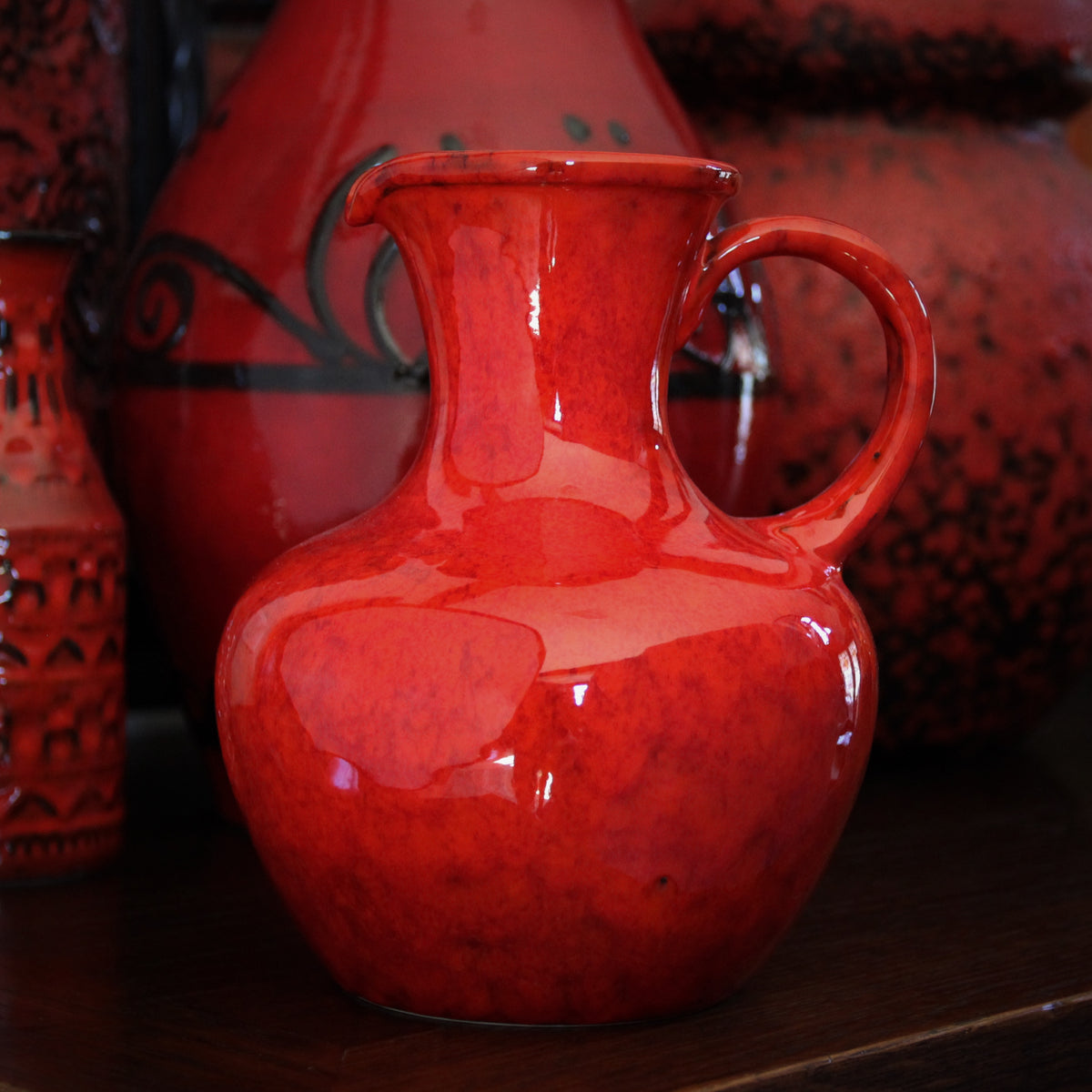 Italian Orange Pitcher
