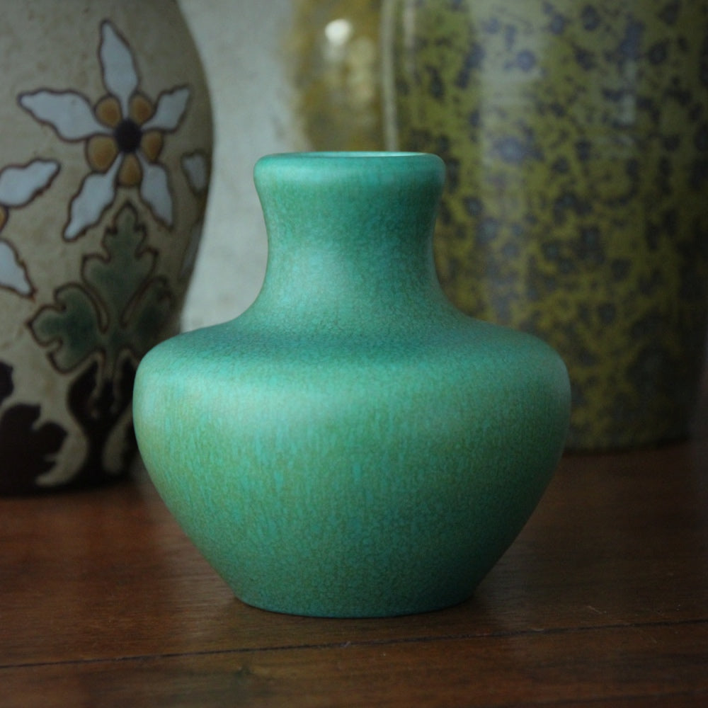 English Dappled Jade Vase
