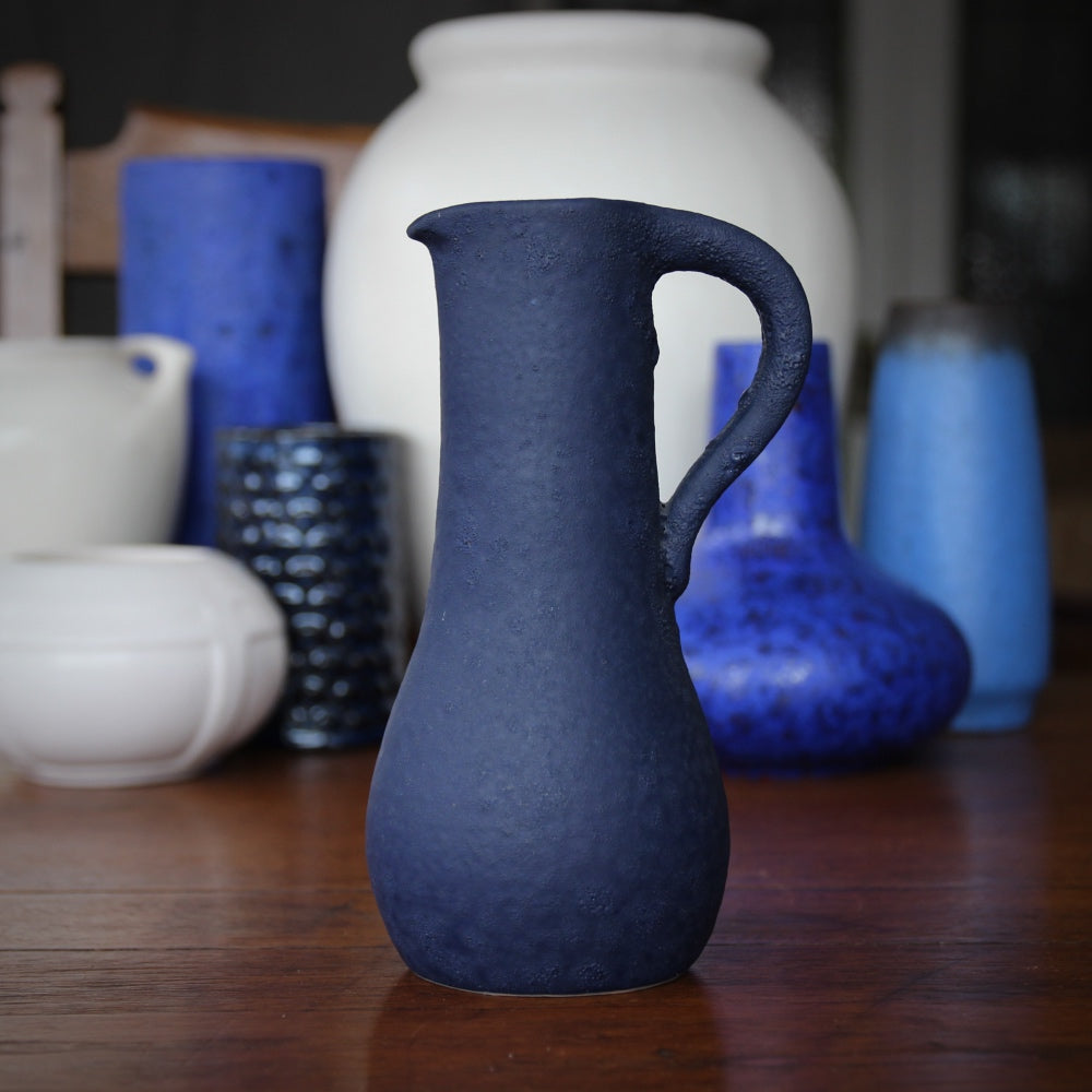Saturated Indigo Pitcher
