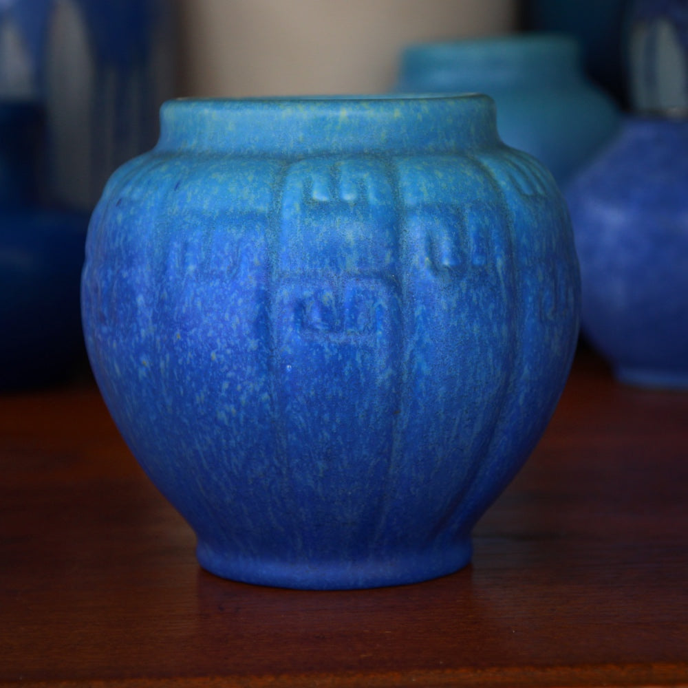 English Deco Greek Key Vase