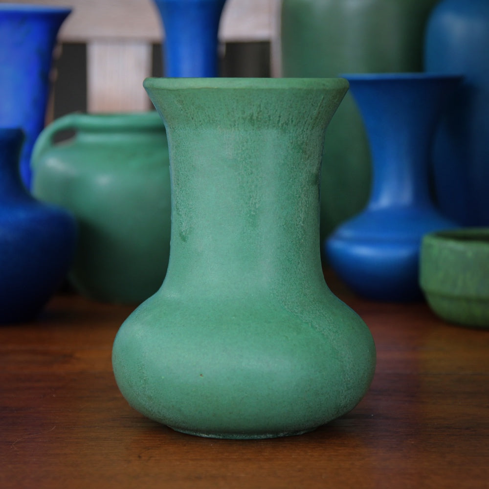 Arts & Crafts Matte Green Vase