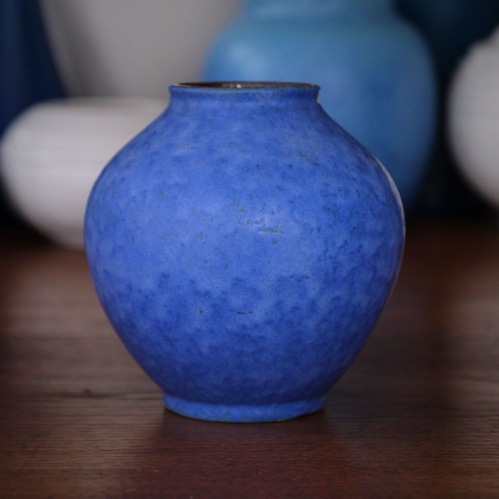 Mottled Blue Vase
