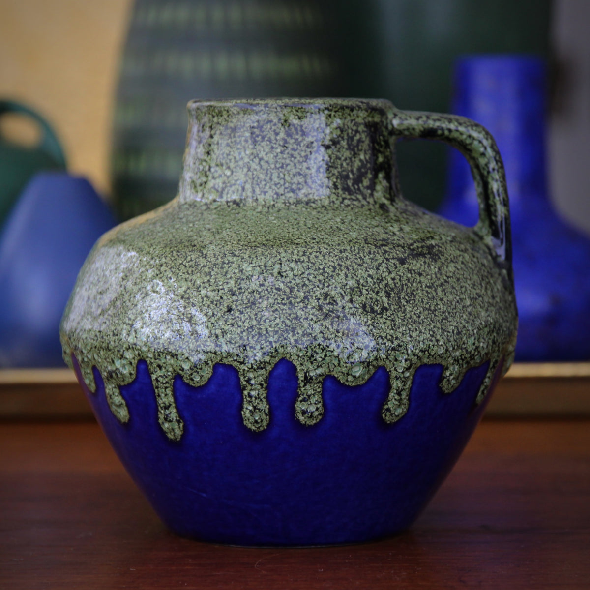 Pesto & Cobalt Pitcher