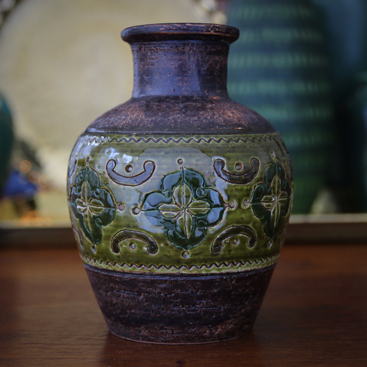 Bitossi Hand-Incised Vase