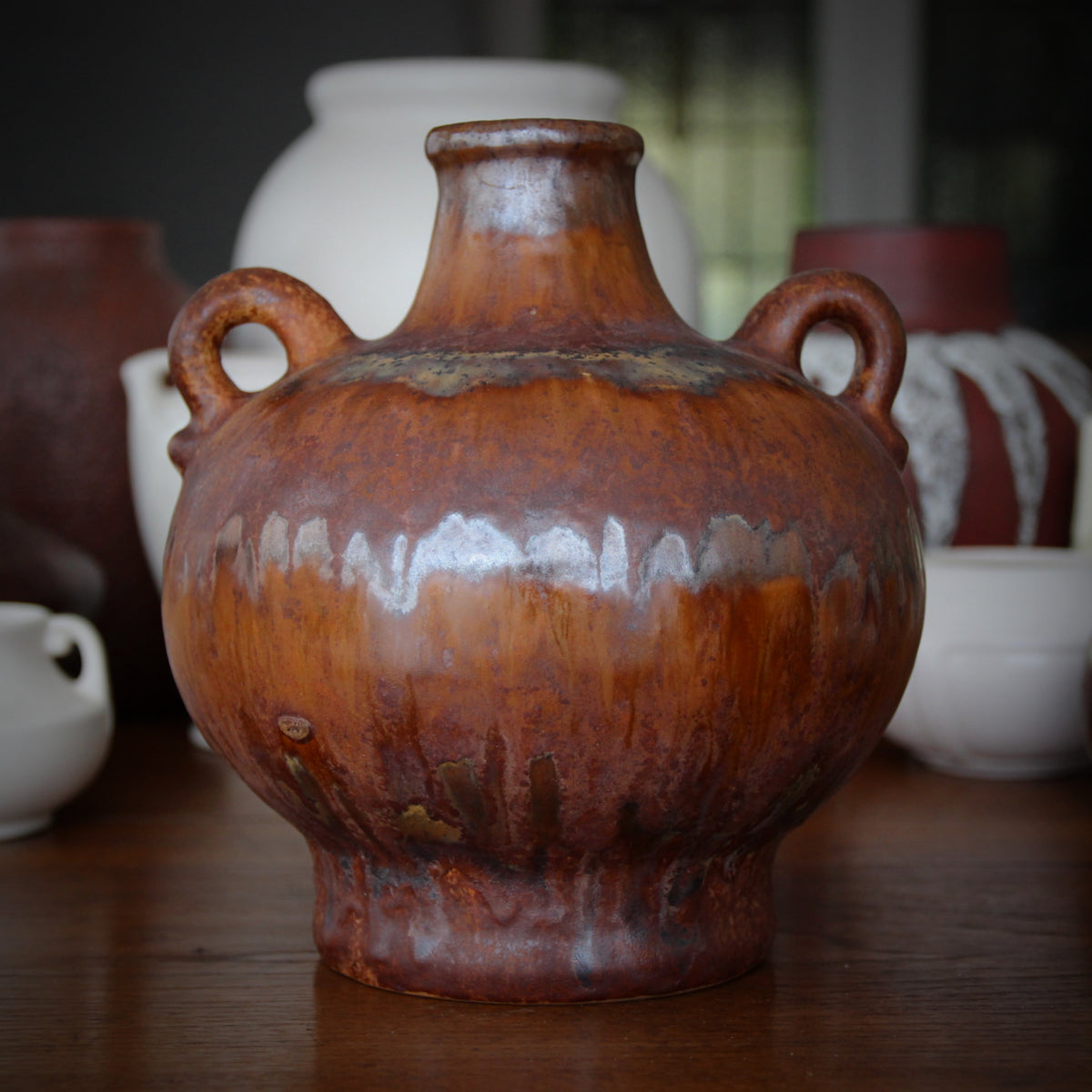 Heuckeroth Metallic Rust Urn