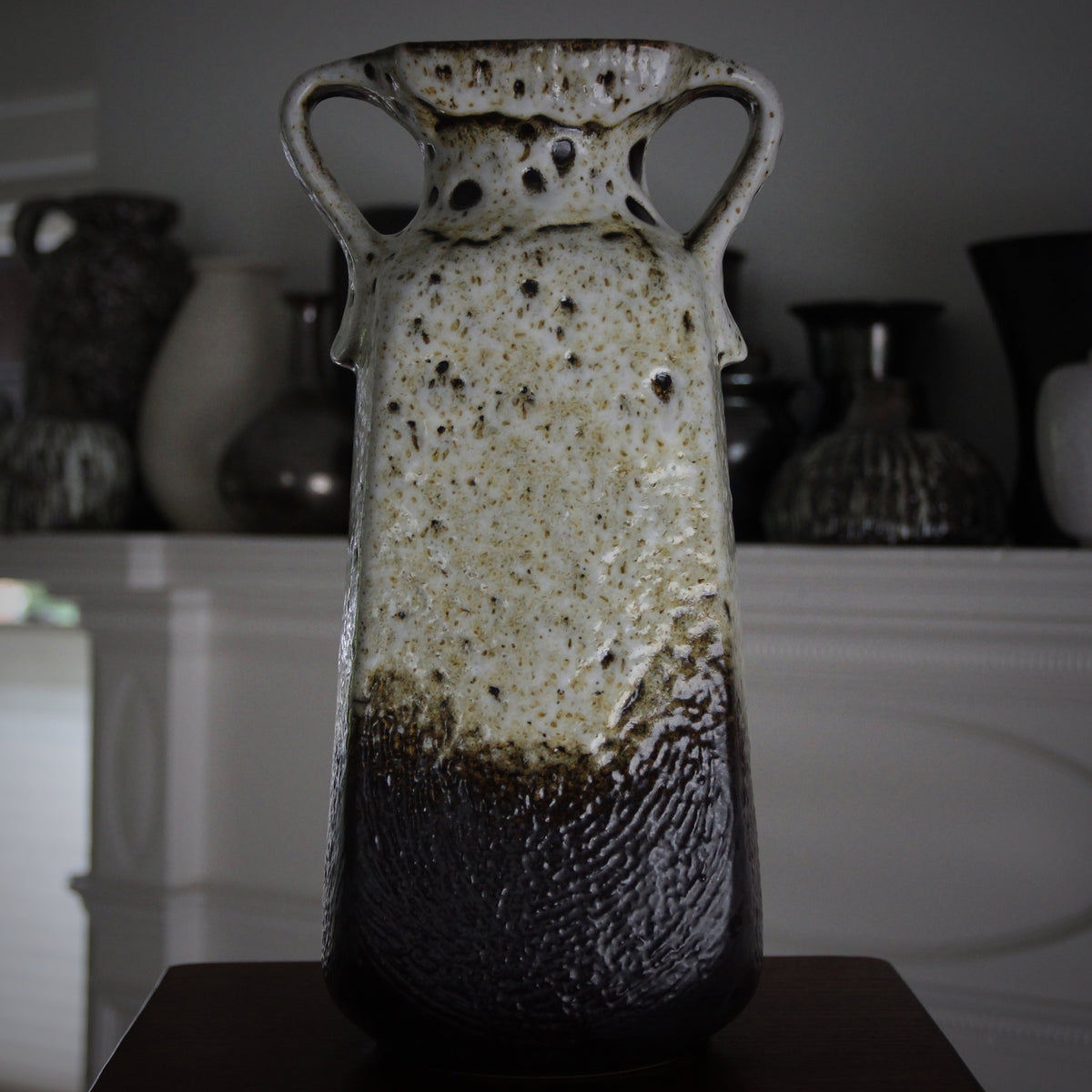 Large Coffee & Cream Vase