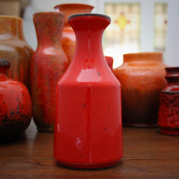 "Orange ""Freckled"" Vase"