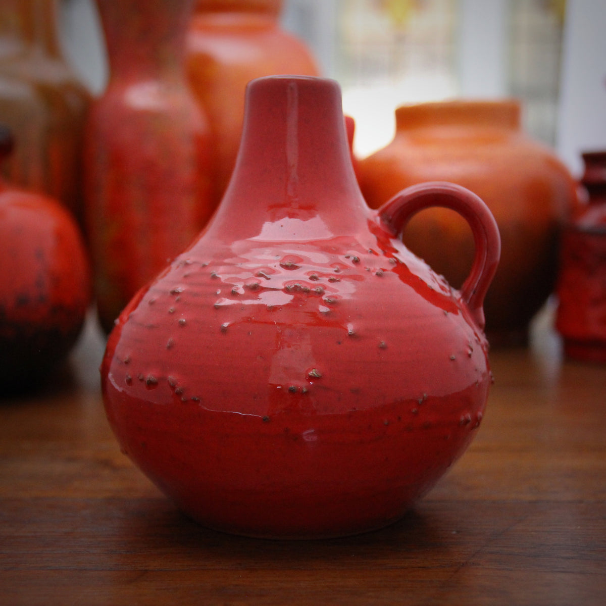 Textured Orange Jug