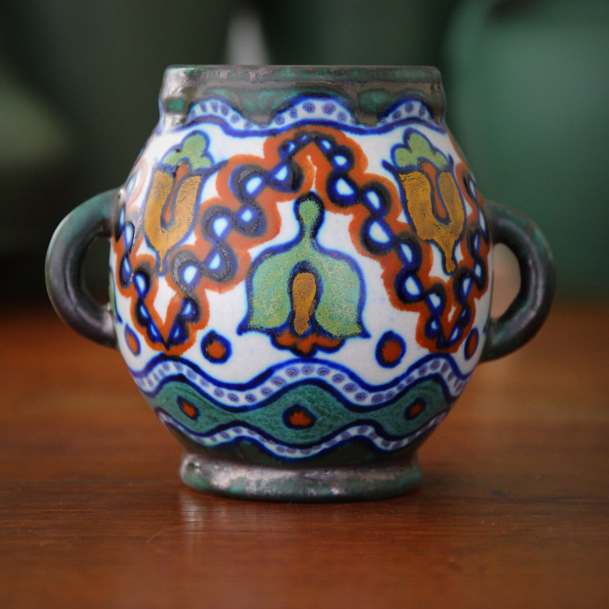 Dutch Hand-Painted Pot