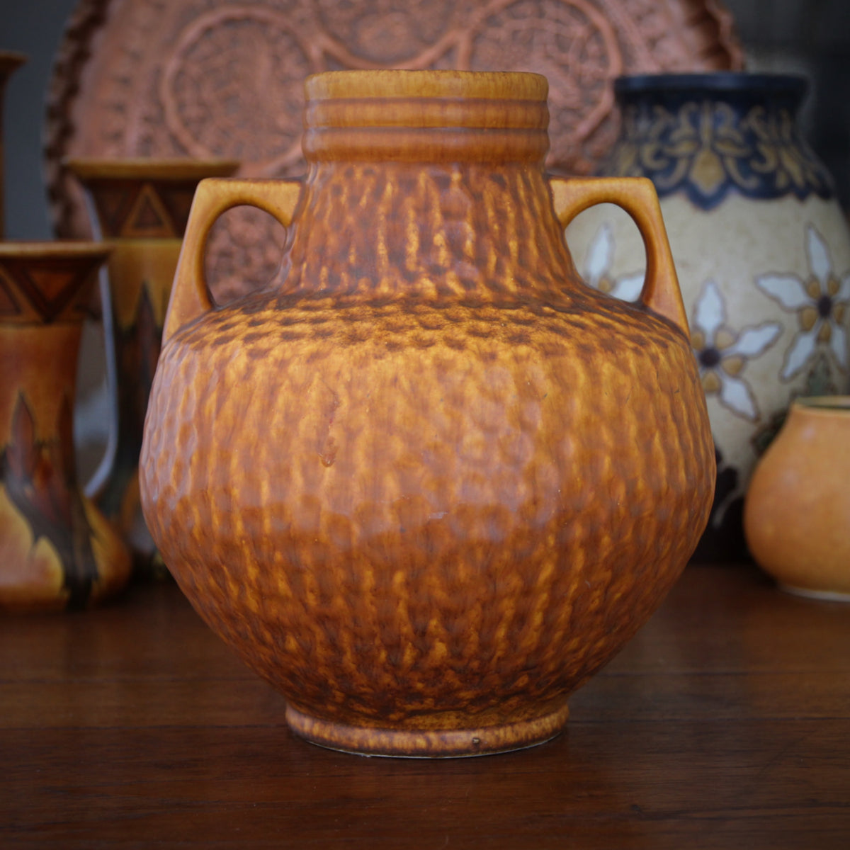 """Hammered"" Two-Handled Urn"