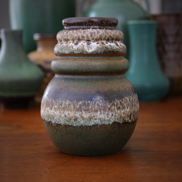 Green Ring-Necked Vase