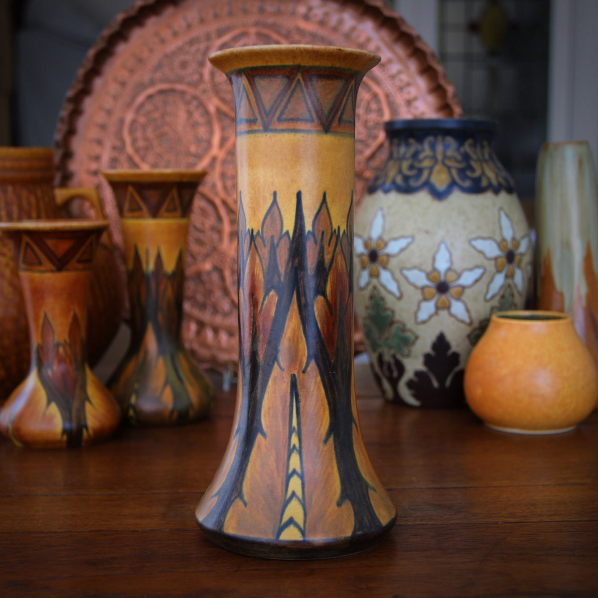 Clewes Hand-Painted Vase