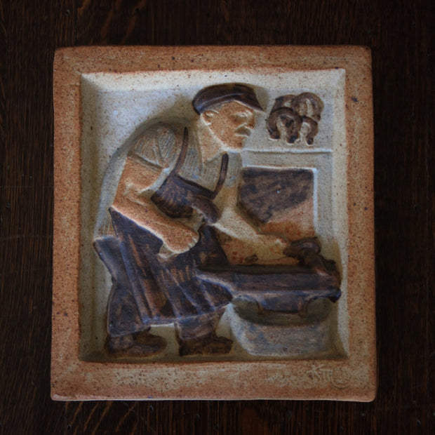 "Johansen Plaque: ""The Blacksmith"""