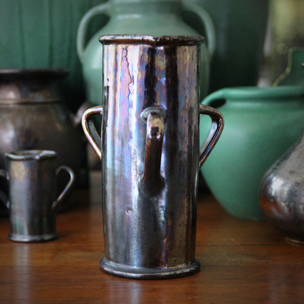 Three-Handled Cylinder Vase