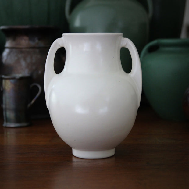 Art Deco Matte White Urn