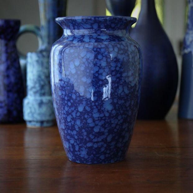 Dappled Blue Modernist Vase