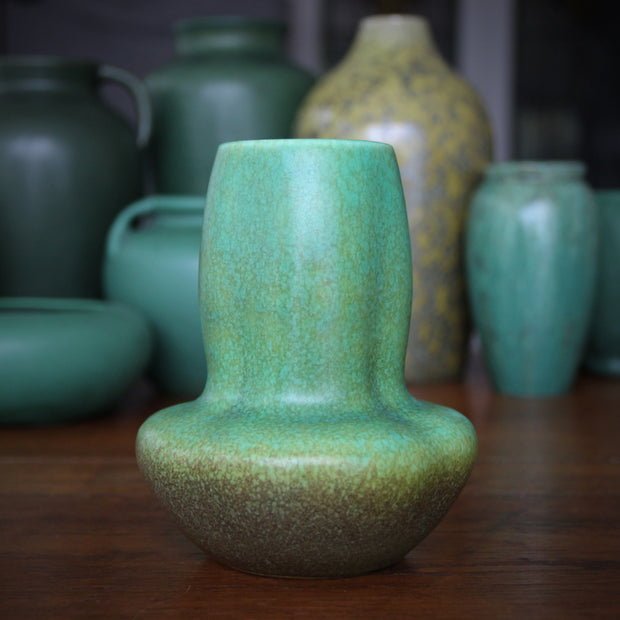 English Apple Green Vase