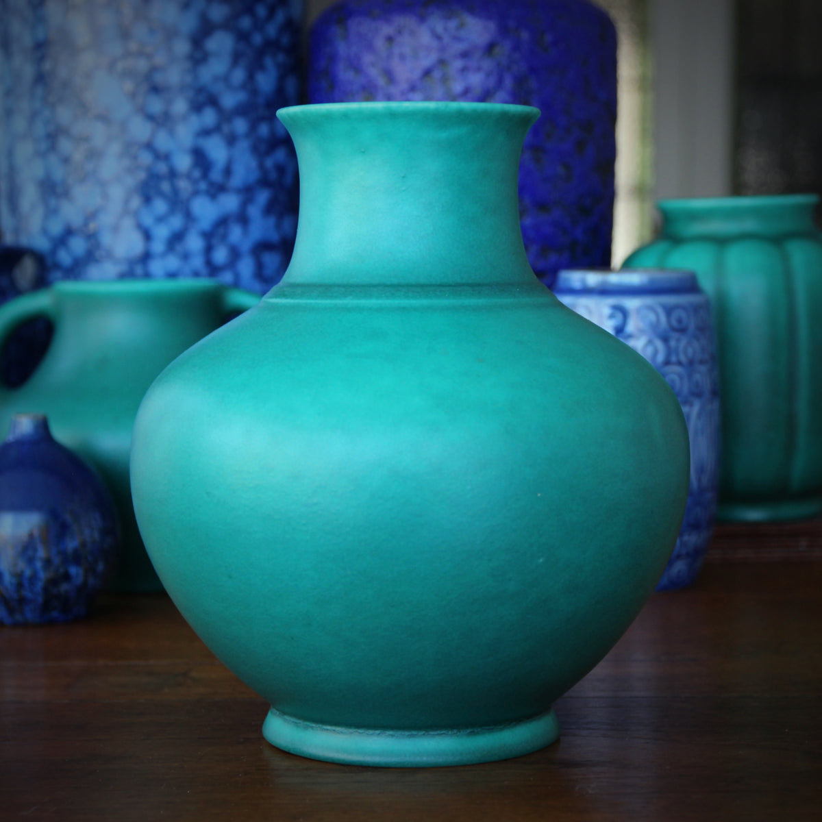English Jade Green Vase