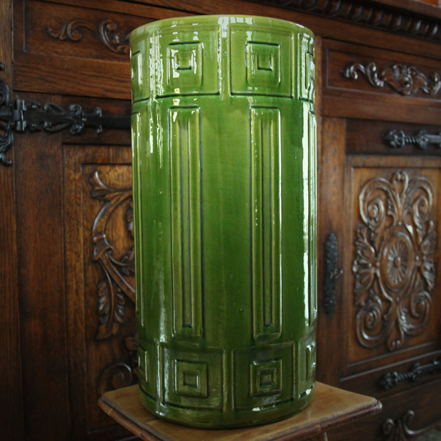 Majolica Pea Green Umbrella Stand