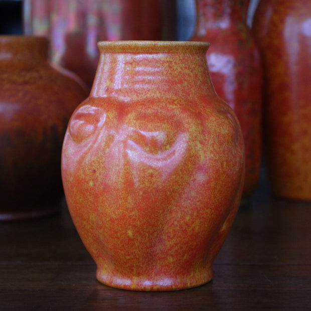 Mottled Orange & Yellow Vase