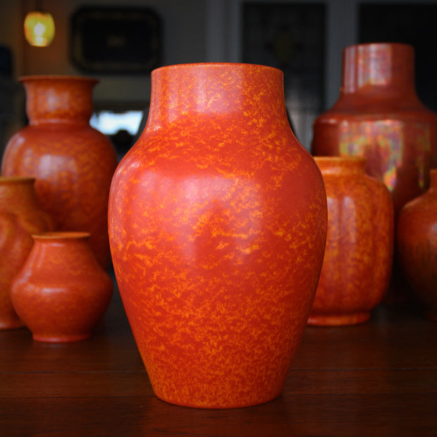 English Orange High-Shouldered Vase