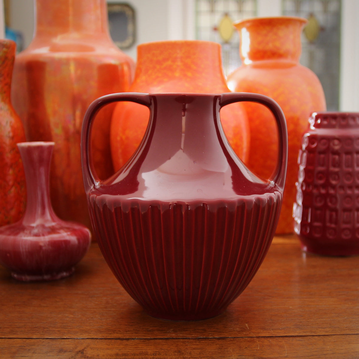 Dutch Oxblood Vase
