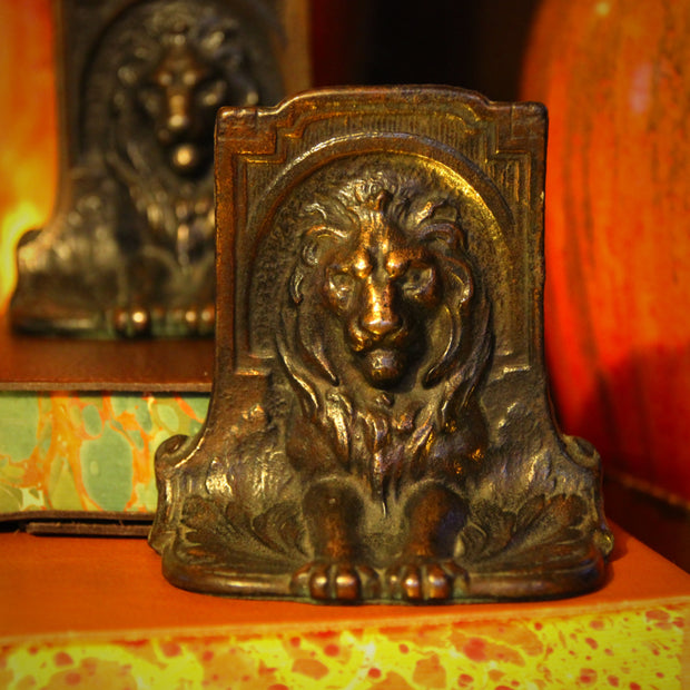 Regal Lion Bookends