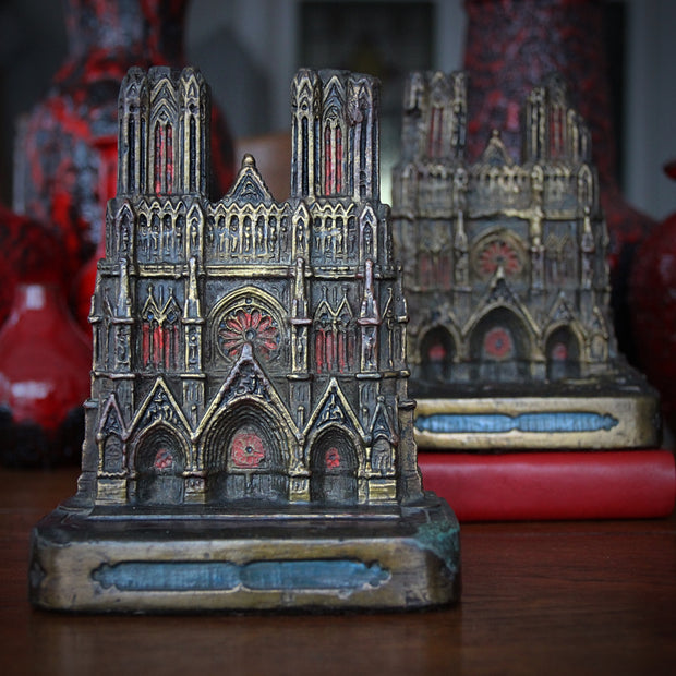 Reims Cathedral Bookends