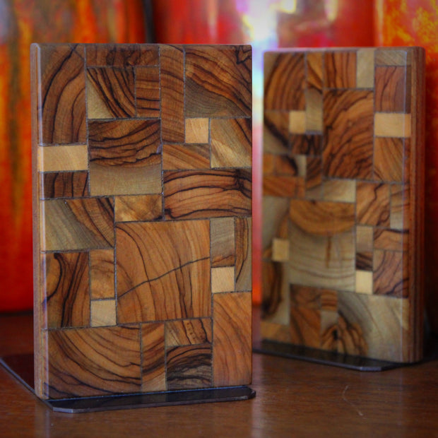 Jerusalem Olivewood Bookends
