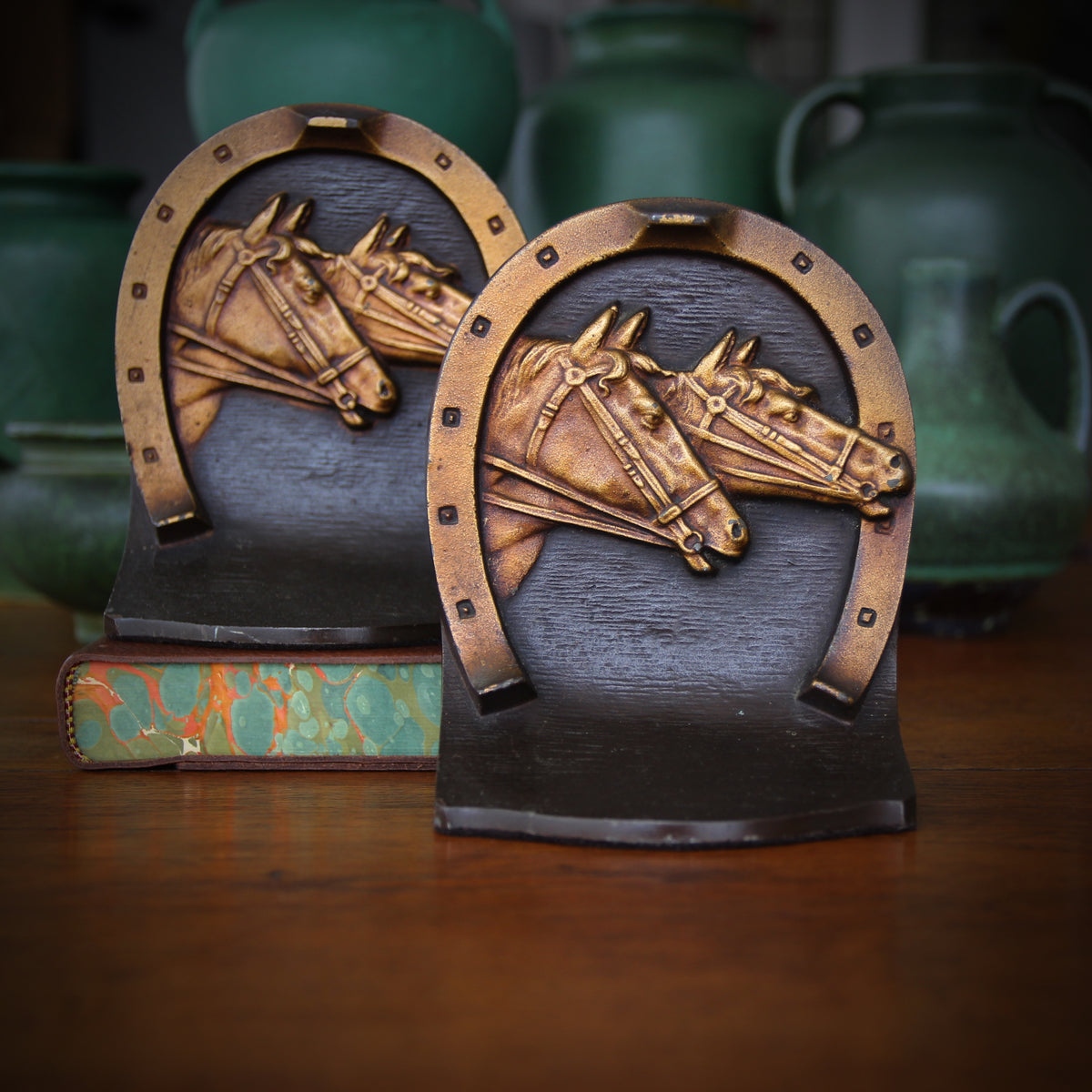 Horse Racing Bookends