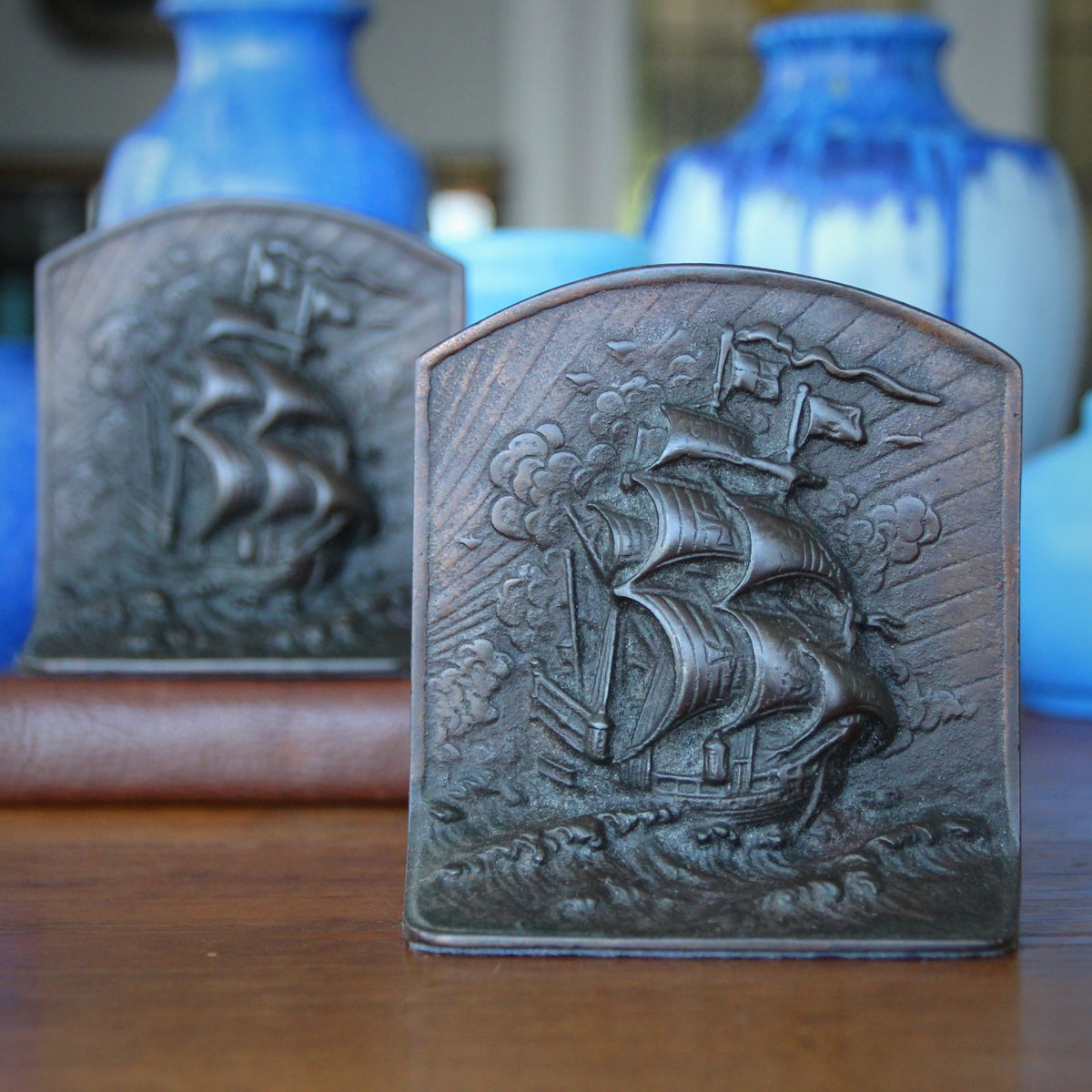 """Galleon at Sea"" Bookends"