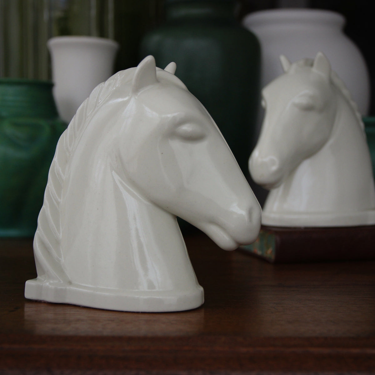 Art Deco Horsehead Bookends