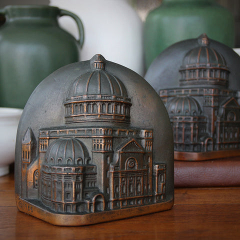Bronze-Clad Cathedral Bookends by Bron-Artz, Los Angeles (LEO Design)