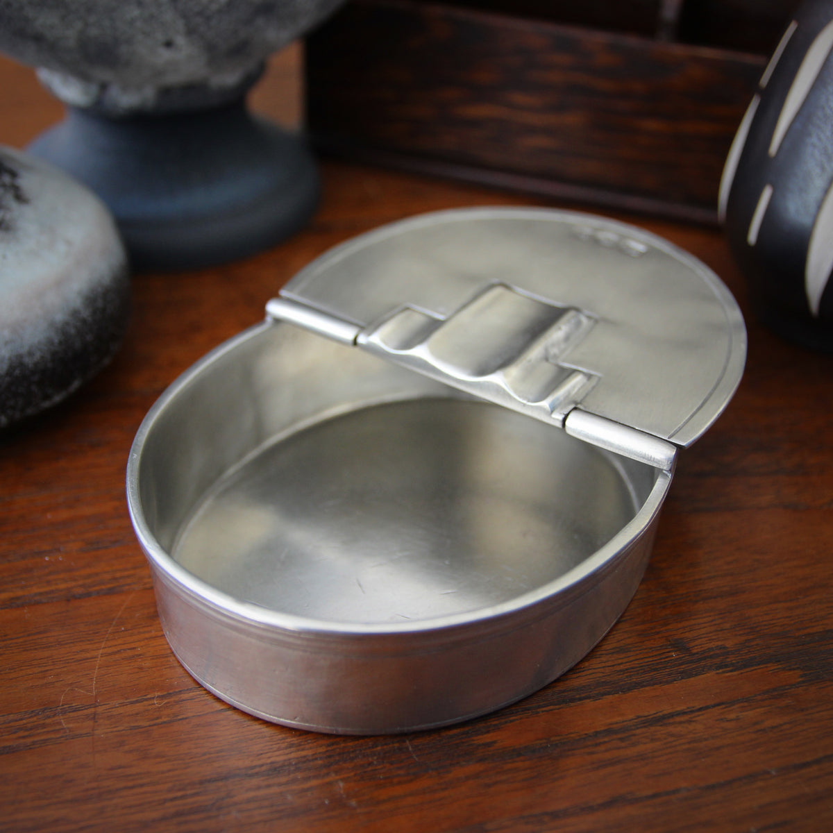 Italian Pewter Cigar Ashtray