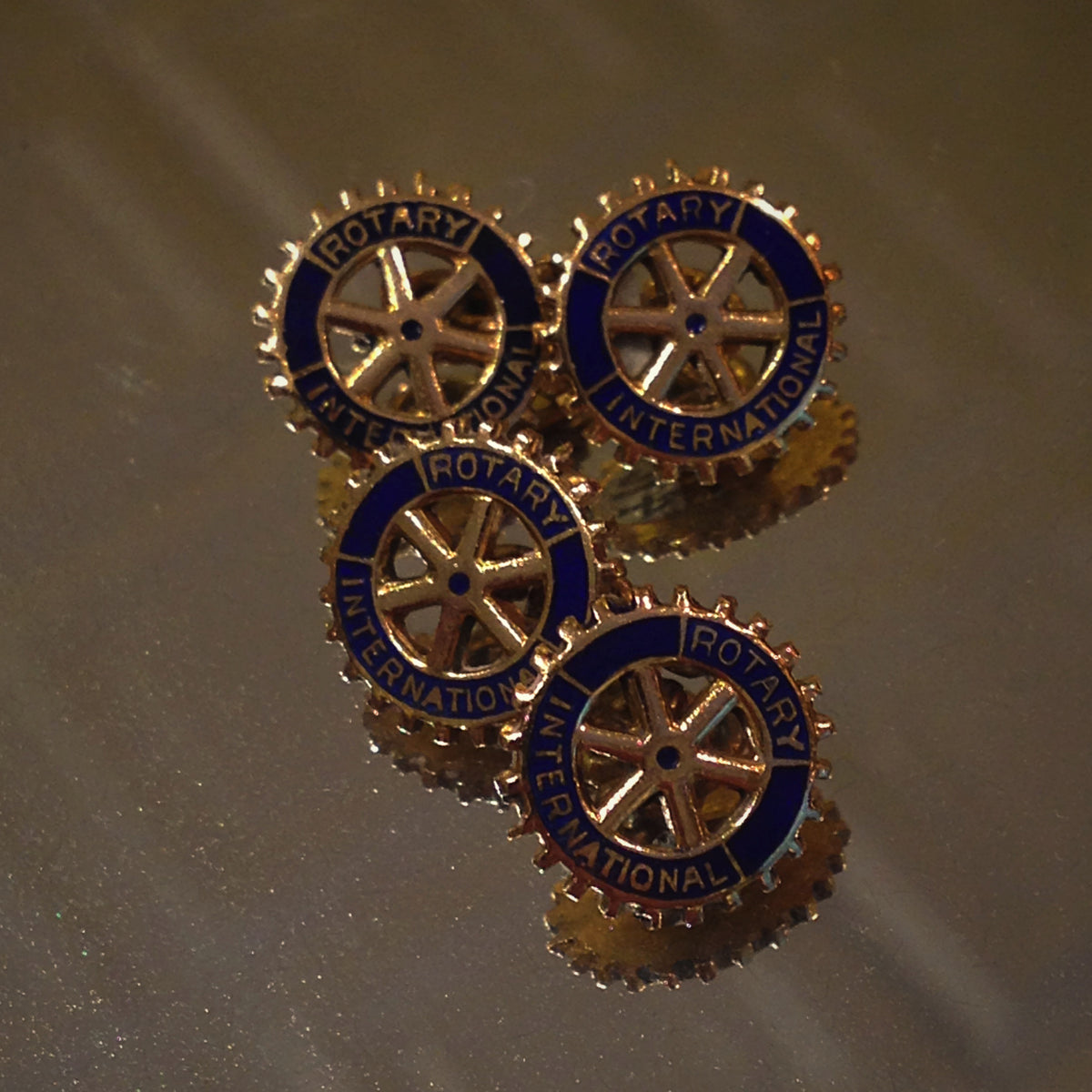 Rotary Enameled Cufflinks