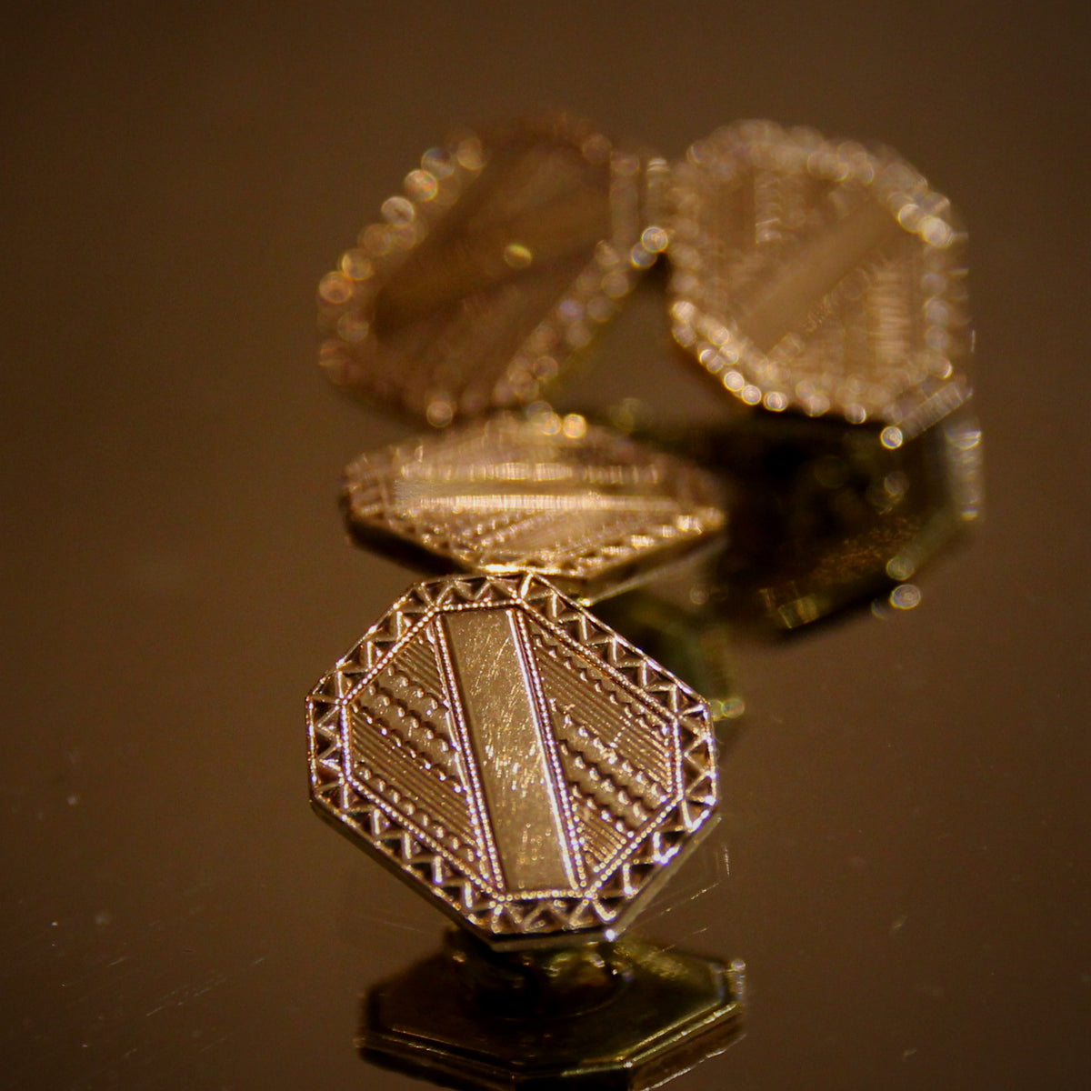 Golden Deco Cufflinks